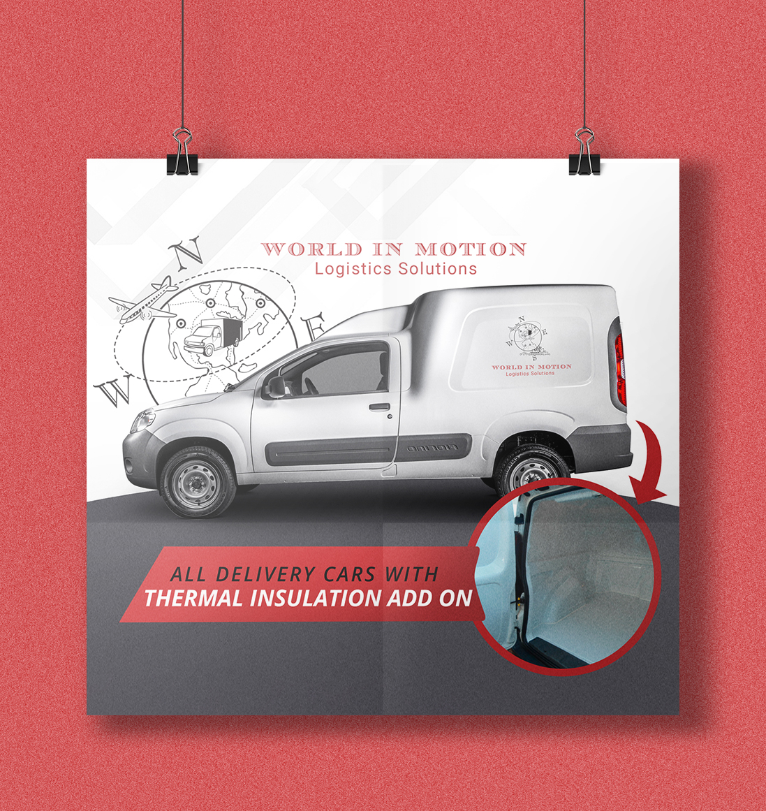We handle fragile goods: Vehicles with thermal insulation add on
