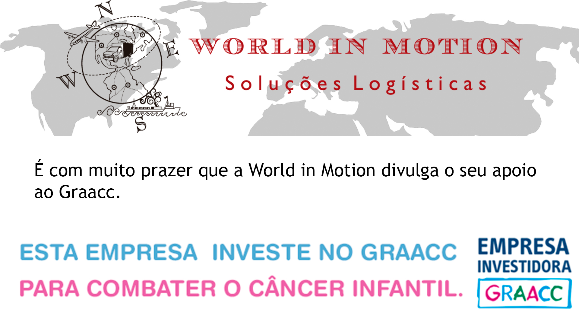 World in Motion em parceria com o GRAACC!